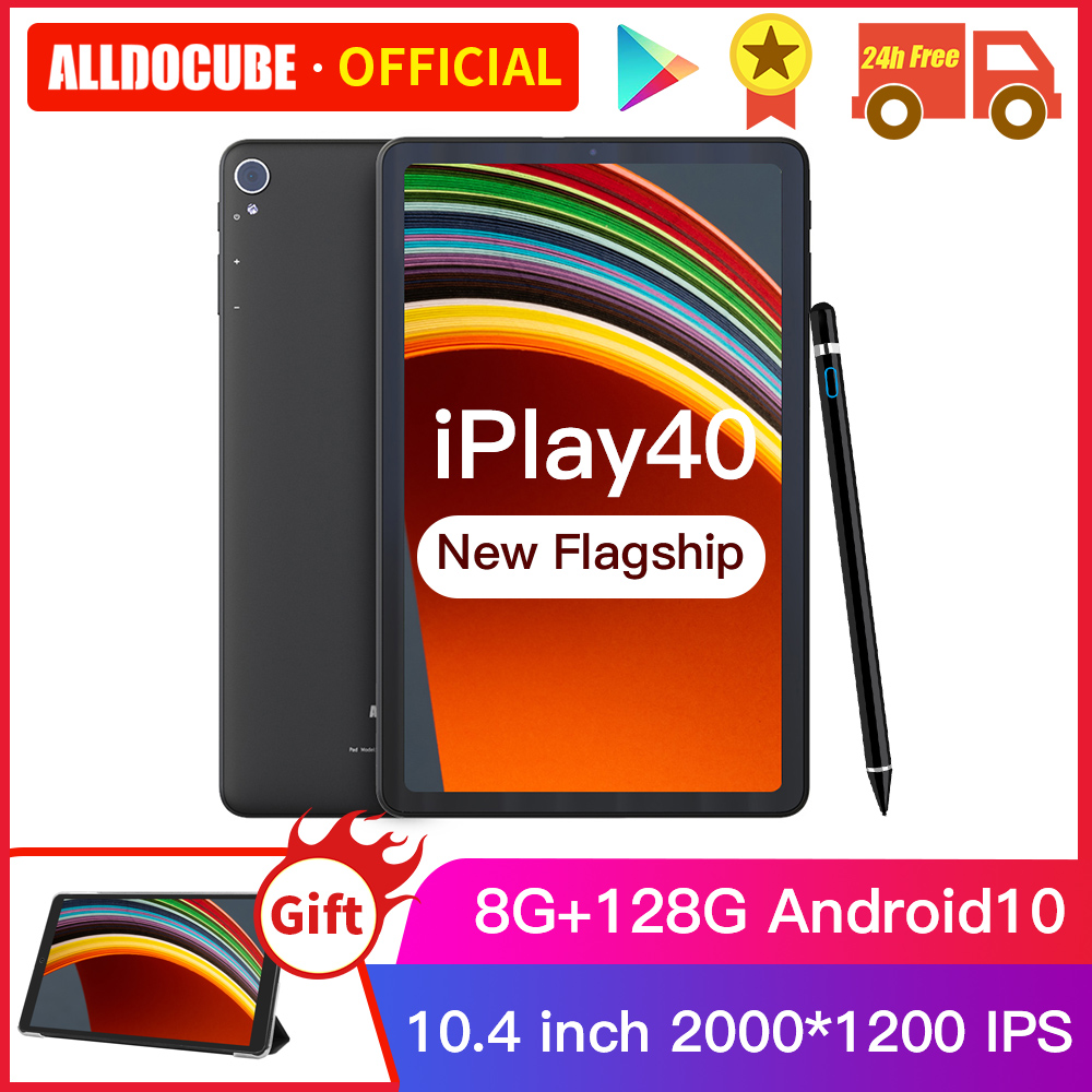 ALLDOCUBE iPlay40 10.4 pouces 2K FHD 2000*1200 8 go RAM 128 go ROM Android 10 T618 CPU LTE phonecall 5G WiFi iPlay 40