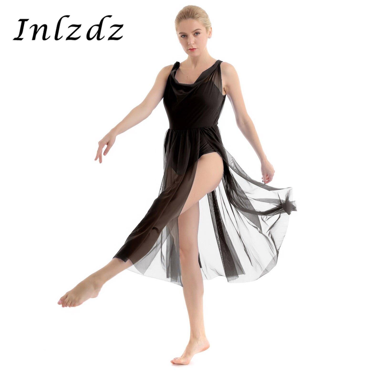 inlzdz Adult Womens Basic Built in Shelf Bra Camisole Gymnastic Ballet Dance Leotard Bodysuit