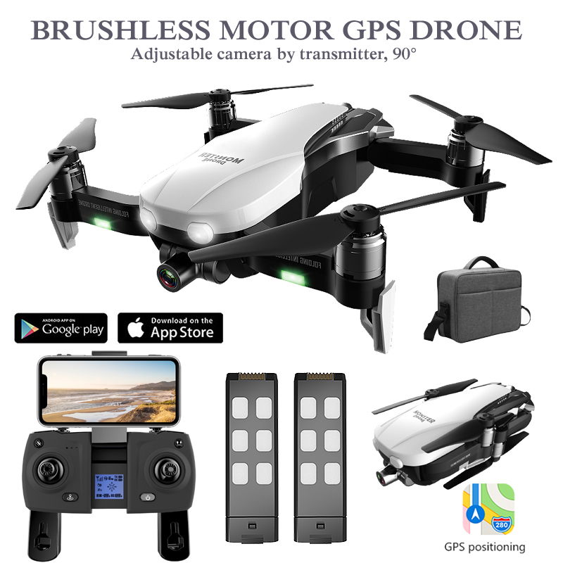 GPS Drone with HD Camera 2K Two-Axis Anti-Shake RC Quadcopter WiFi FPV Profissional Drone Quadrocopter Rc Helicopter Dron GPS image