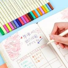 24 renkler 0.38mm Fineliner kalemler ince çekme nokta resim kalemi kalem su bazlı mürekkep tasarım Multicolours grafik çizim malzemeleri