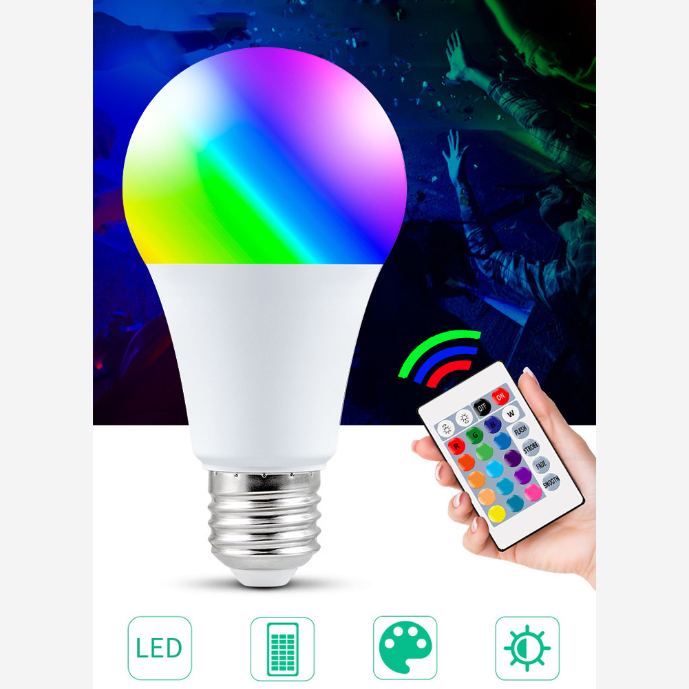 15W WiFi Smart Light Bulb E27 Wireless Dimmable RGB Bulb Colorful RGBW LED Smart Bulb Spotlight Wifi APP Control Home Lighting