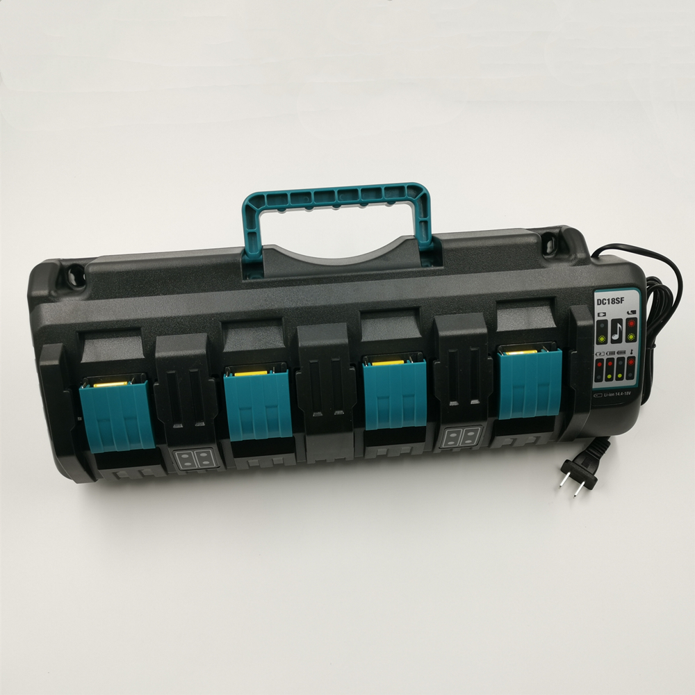 For Makita DC18SF BL1430 BL1830 14.4V 18V Li-ion Charger Rapid Optimum 4-Port 3A Charging Current Replacement Battery Charger