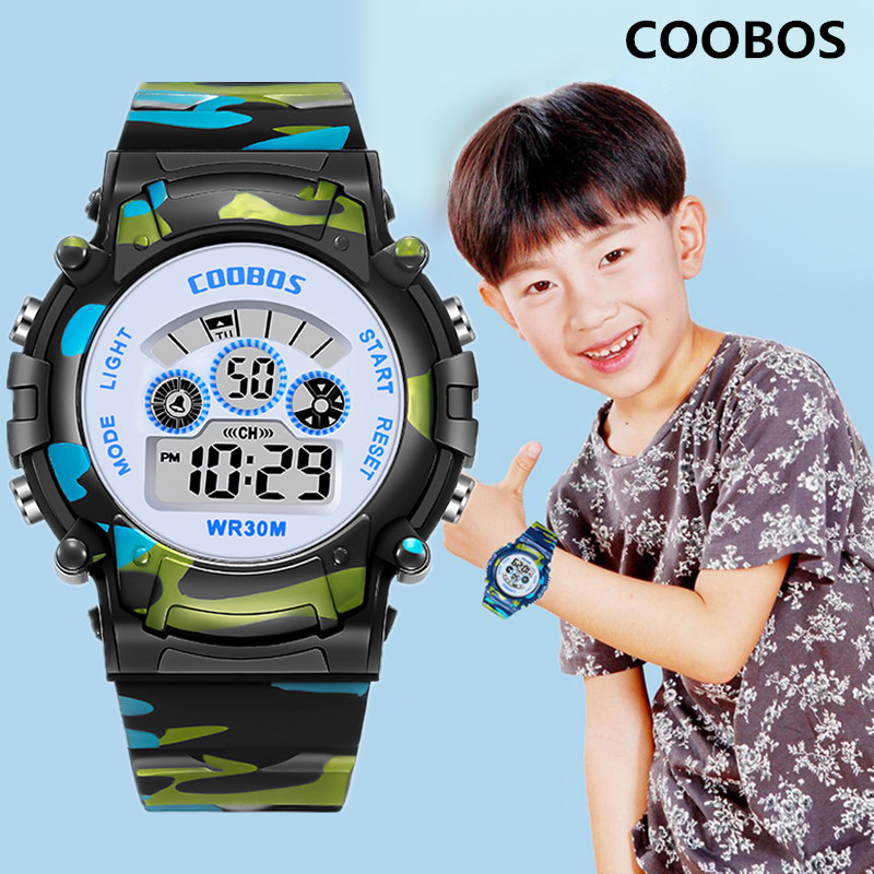2020 Life Waterproof Children Date Watch For Boy Girl Digital Watch LED Sports WristWatch Kids Alarm