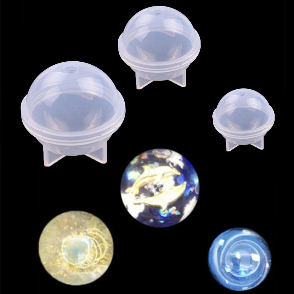 20/30/40/50/60mm Round Sphere Ball Silicone Mold Mould Pendant Jewelry Making UV Resin Craft DIY