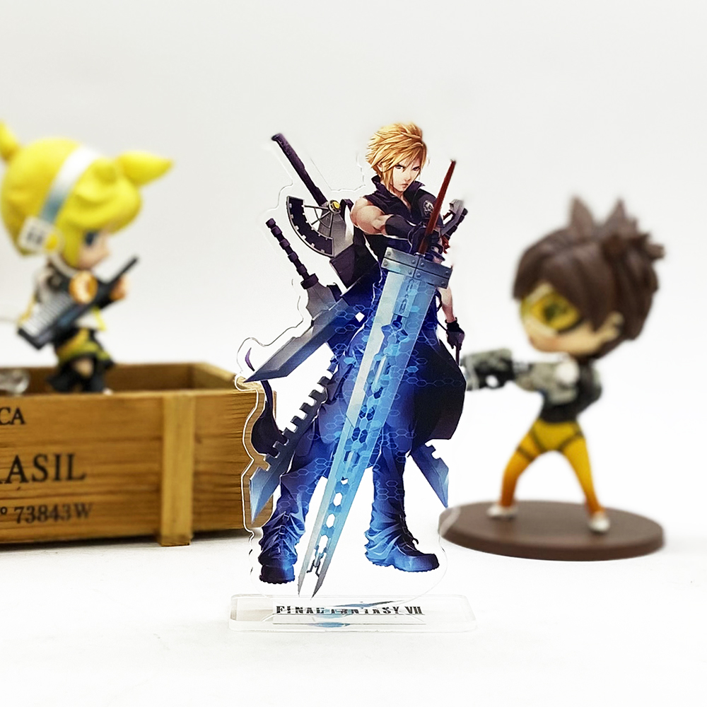 Final Fantasy FF VII 7 Cloud Strife HM Acrylic Stand Figure Model Plate Holder Cake Topper Game Japanese
