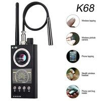 K68 Multifunktionale Anti Spy Detektor Versteckte Kamera Detektoren RF Signal Drahtlose Bug GPS Alarm Scanner Hotel Mini Kamera Finder