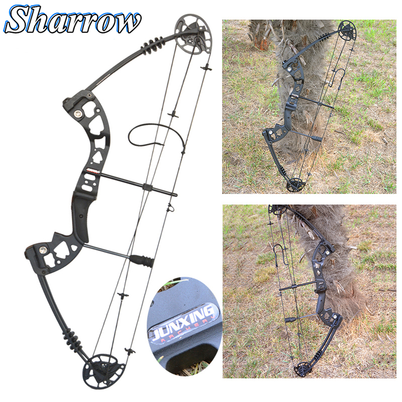 Compound Pulley Bow Archery Sets 30-55Lbs Adjustable Bow Hunting Outdoor Sports Hunting Shooting Accessories Camping Equipment