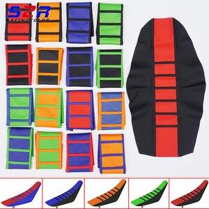 Image 1 - Mango de goma cubierta de asiento suave acanalado para YAMAHA, HONDA, SUZUKI, DUCATI, KTM, SX, SXF, XC, XCF, funda de cuero para cojín todoterreno