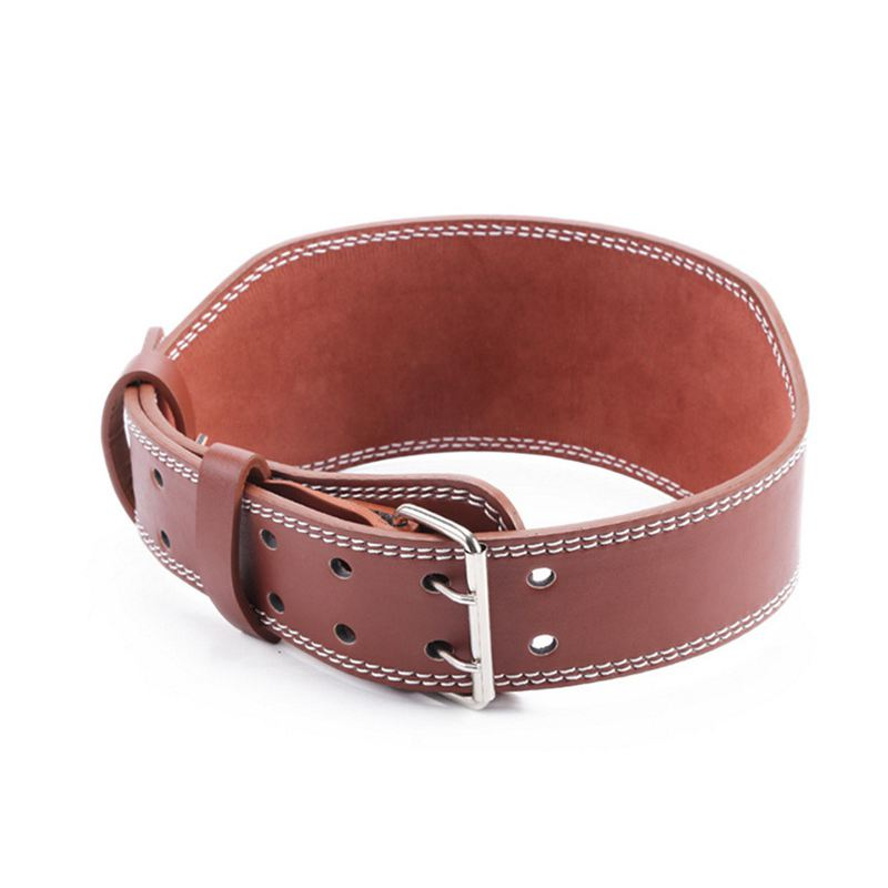 PU Weight Lifting Belt Protect Waist Gym Fitness Power Lifting Belt Back Support, Brown