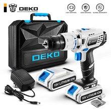 DEKO GCD18DU3 Электрическая отвертка аккумуляторная ударная дрель Мощность Драйвер 18 вольт постоянного тока литий-ионный Батарея 13 мм 50N. m 2-Скорость