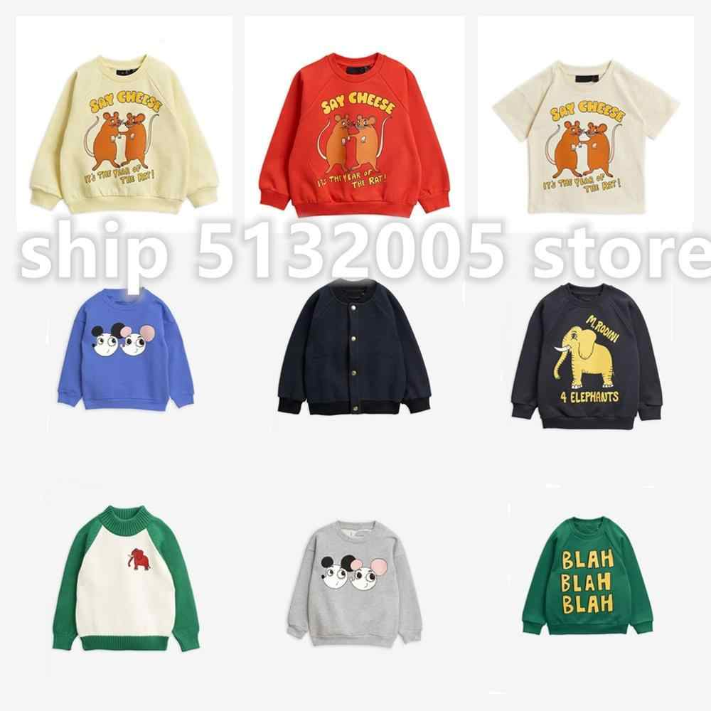 MR2020 Spring and Summer New Boys and Girls Long-sleeved Sweater Children's Clothing Elephant Print Children's Sweater
