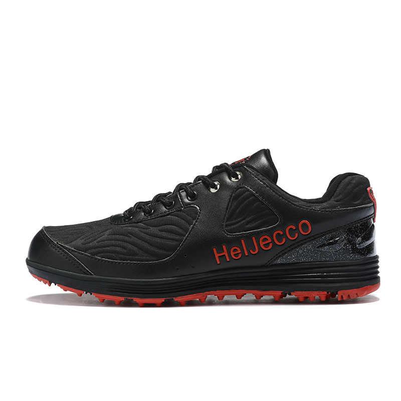 Sepatu Golf Pria Tahan Air Luar Ruangan Nyaman Hitam Pria Olahraga Sepatu Kualitas Man Pelatihan Profesional Sneakers