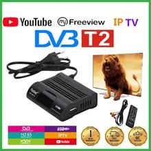 Digital TV Tuner Receptor Wifi-Receiver Set-Top FTA Youtube Dvb T2 Hevc 265 Pantesat
