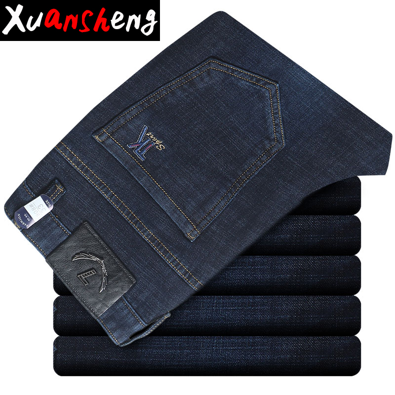 Brand Straight Jeans Men 2020 New Summer Thin Section Youth Business Stretch Casual Fashion Cotton Soft Street Long Pants Jeans