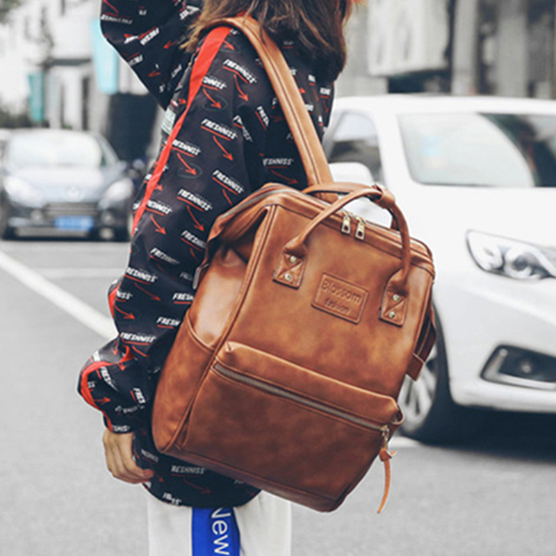 2019 Vintage Backpack Women High Quality Leather Backpack High Capacity School Bags For Teenage Girls Women Travel Backpacks