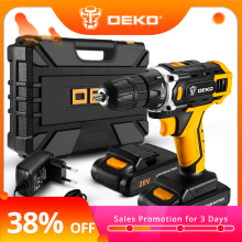 DEKO Power-Driver Battery Cordless-Drill Lithium-Ion Sharker Mini DC Wireless 2-Speed