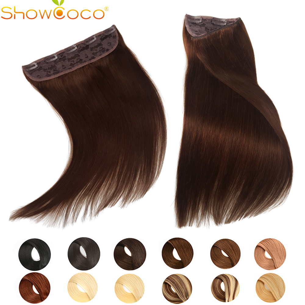 Clip In Human Hair Extensions Long Straight One Piece 5 Clips Machine Made Remy Hair 3/4 One Head for Women Beauty 14-24inch