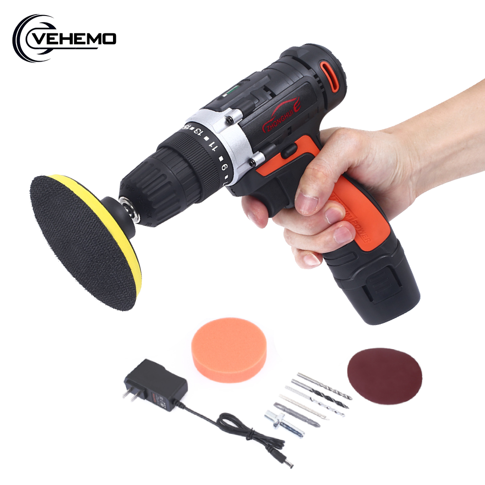 12V Wireless Car Polisher Electric Screwdriver Drill Cordless 120W Power Grinder Polishing Machine Grinding Sanding Tool