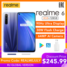 realme 6 8GB 128GB Mobile Phone Helio G90T 30W Flash Charge