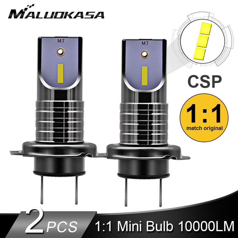 2PCS LED H7 Headlight Bulb CSP Chip LED Canbus Car Light 10000LM/Bulb 50W H11 Mini HB3 HB4  Cutting Line  12V 24V Car Styling