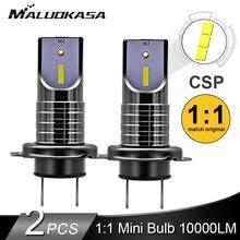 2 adet LED H7 far ampulü CSP çip LED Canbus araba ışık 10000LM/ampul 50W H9 H11 Mini HB3 HB4 kesme hattı 12V 24V araba Styling