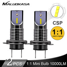 2PCS LED H7 ไฟหน้าหลอดไฟ CSP ชิป LED Canbus รถ 10000LM/หลอดไฟ 50W H9 H11 Mini HB3 HB4 ตัดสาย 12V 24V รถจัดแต่งทรงผม