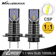 2PCS LED H7 Koplamp Lamp CSP Chip LED Canbus Auto Licht 10000LM/Lamp 50W H9 H11 Mini HB3 HB4 Snijden Lijn 12V 24V Auto Styling(China)