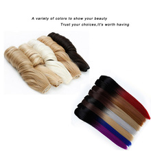 DIANQI 5 clips on long straight hair extensions 24 Inch synt