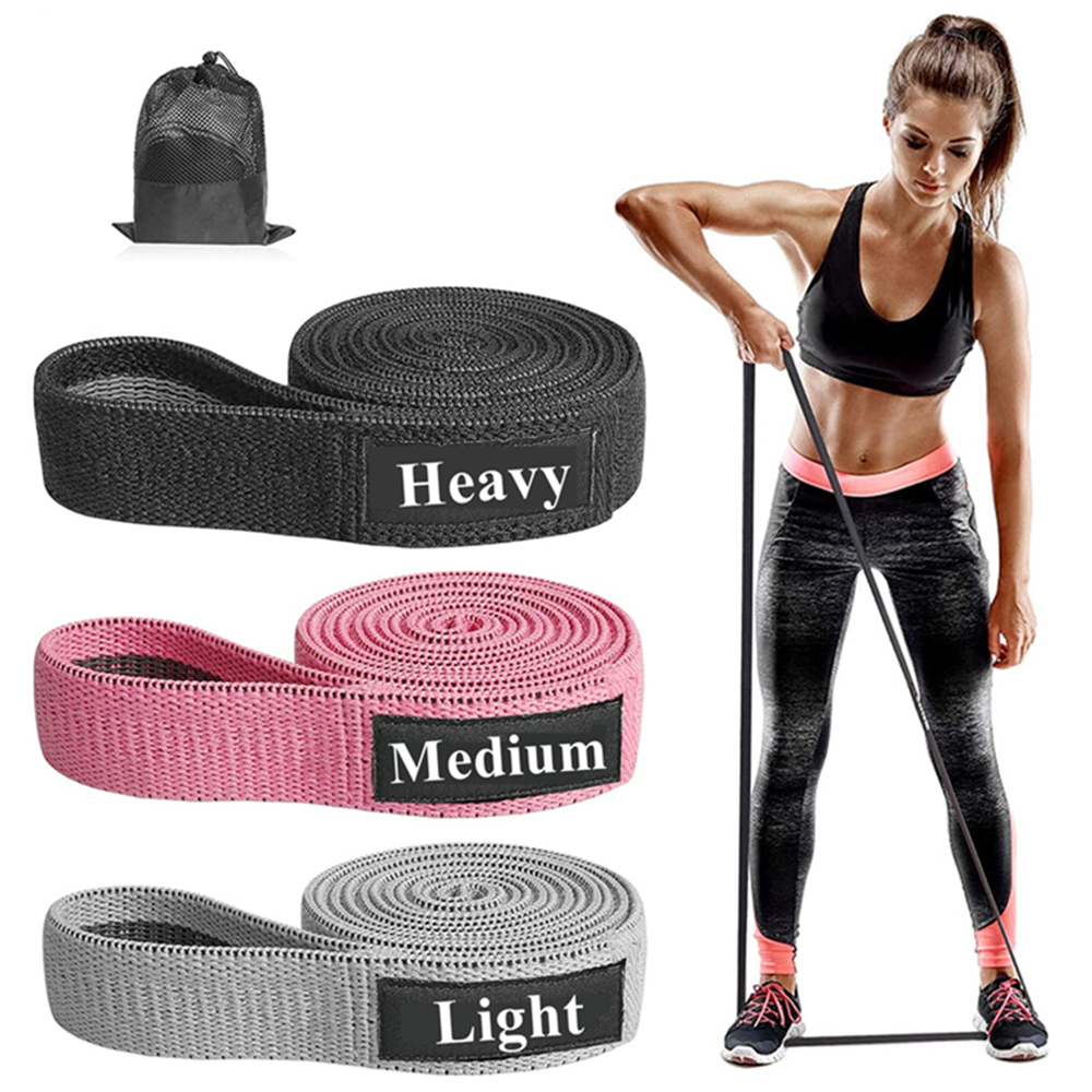 Fitness Long Resistance Bands Set Yoga Pull Up Booty Hip Workout Loop Elastic Band Gym Training Exercis Equipment for Home
