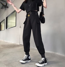 Новинка лета 2020 черные женские брюки свободные повседневные