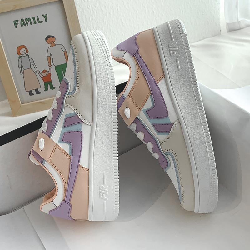 de lona deslizamento na linha feminina sapatos