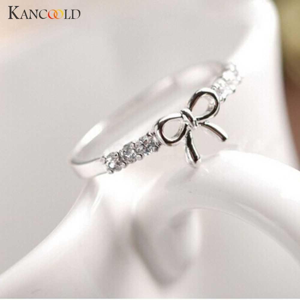 Hàng Mới Về Hoàn Mỹ Nhẫn Trang Sức Pha Lê Hàn Quốc Nơ Vòng Hình Bướm Jewelries Cho Nữ, Nhẫn Nữ Giá Đỡ Chiếc Nhẫn