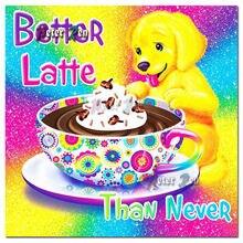 Кофейная картина в виде щенка с бриллиантами изображение собаки