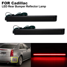 2 pieces Smoked lens Red Light Rear Bumper LED Reflector Brake light For Cadillac CTS CTS-V 2008 2009 2010 2011 2012 2013 2x red lens 24 led rear bumper reflector tail brake light 04 09 for mazda3 mazda 3 axela mazdaspeed3