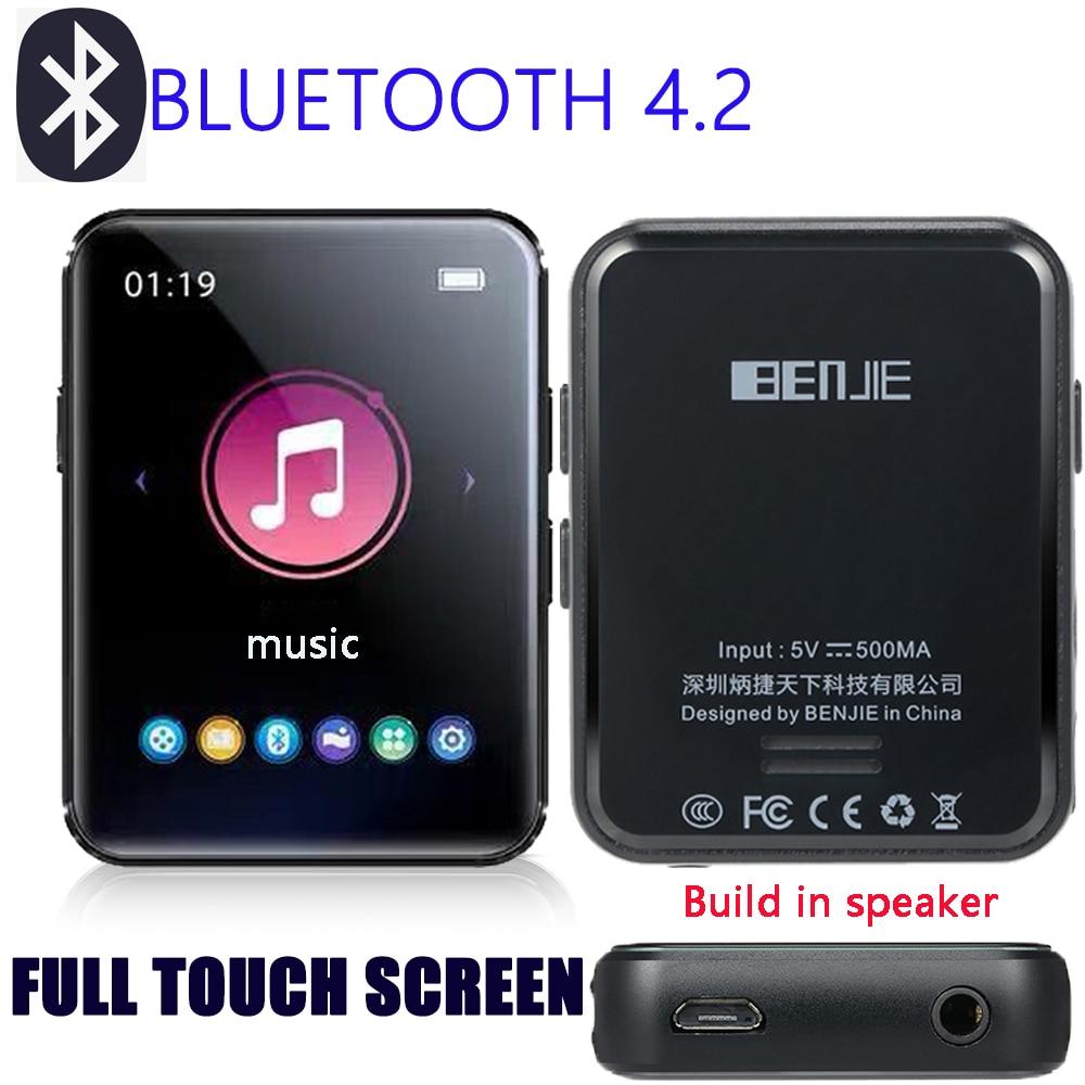 Polegadas da Tela Hi-fi com Rádio de fm Leitor de Mp3 do Grampo gb com Leitor de Música de 1.8 Mini Bluetooth Construído Orador Tela Táctil Completa 16 4.2 no