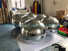 Large inflatable mirror balloon, PVC silver inflatable mirror ball for advertising campaigns 2m pvc advertising inflatable giant balloon inflatable advertising balloon you can design
