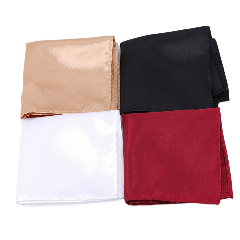 2019 New High Quality Men's Solid Plain Suits Pocket Square Wedding Party Handkerchief Wedding Tie Accessories Zakdoek