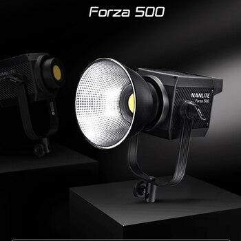 NANLITE Forza 60W 300W 500W 5600K Photography Light Portable Outdoor LED Light Monolight COB Light with Bowens Mount