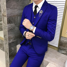 Men's Tweed Suits High Quality Plaid Wedding Groom Tuxedos Single Button Slim Fit Business Prom Dress Men's Formal Dress Suits
