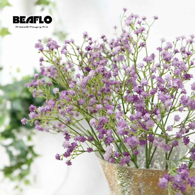 1pc Artificial Baby's Breath Flower Gypsophila Fake Silicone plant for Wedding Home Hotel Party Decoration 5 Colors 5