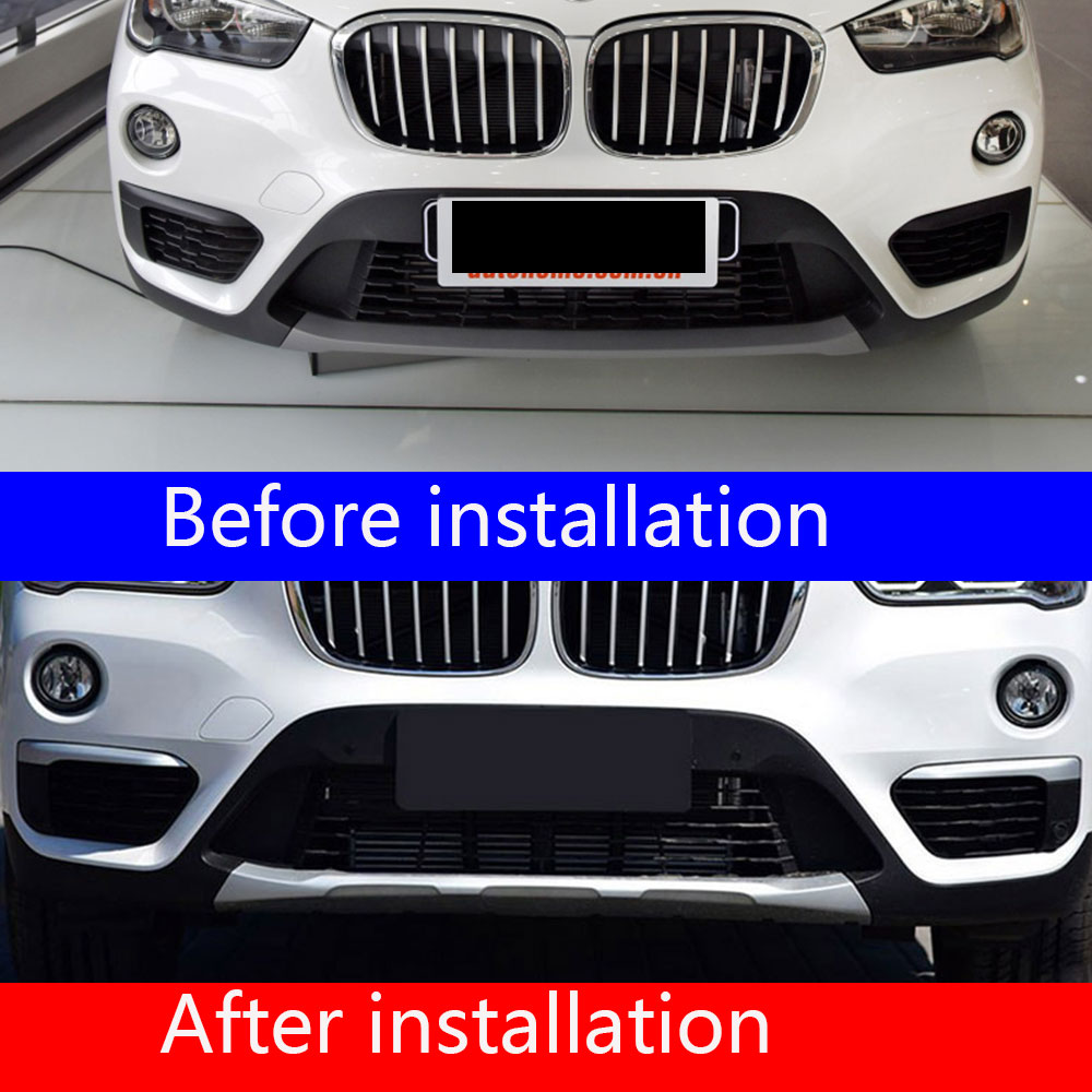 For <font><b>BMW</b></font> <font><b>X1</b></font> F48 2016 <font><b>2017</b></font> 2018 2019 front fog lampshade modified <font><b>accessories</b></font> decorative bright bar ABS silver Car <font><b>Accessories</b></font> image