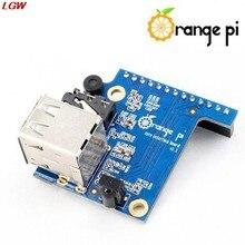 Laranja pi adaptador placa 2 usb 2.0 cartão de expansão especial para laranja pi zero pc io microfone usb ahs
