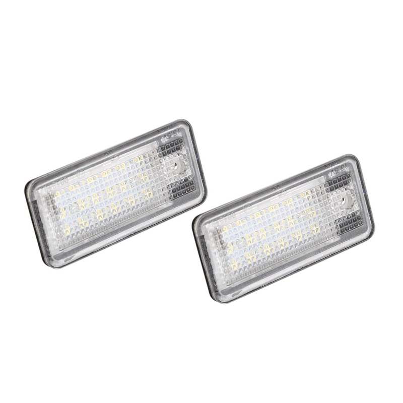 2x 18 LED License Number Plate Light Lamp For <font><b>Audi</b></font> A3 S3 A4 S4 B6 A6 S6 <font><b>A8</b></font> S8 Q7 image