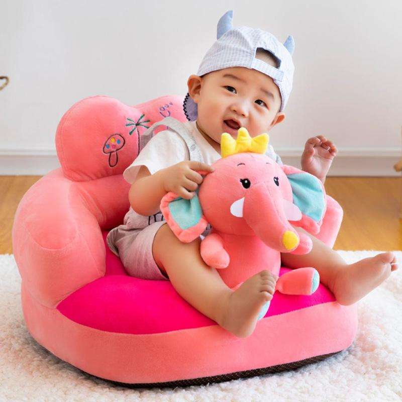 Baby Sofa Seat Cover Anti-fall Infant Learn To Sit Feeding Chair Cover Skin For Toddler Kids Plush Chair Sofa Case No Filler