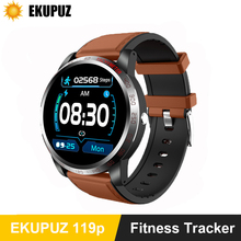 EKUPUZ ECG Smart Watch GPS Bluetooth Fitness Tracker Blood Pressure Heart Rate Monitor Call Reminder Message Push Smartwatch