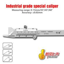 Precision Work Vernier Caliper Stainless Steel Chamfer Caliper 4CR13 Stainless Steel Measuring Tool 0-30°0-45°0-60°