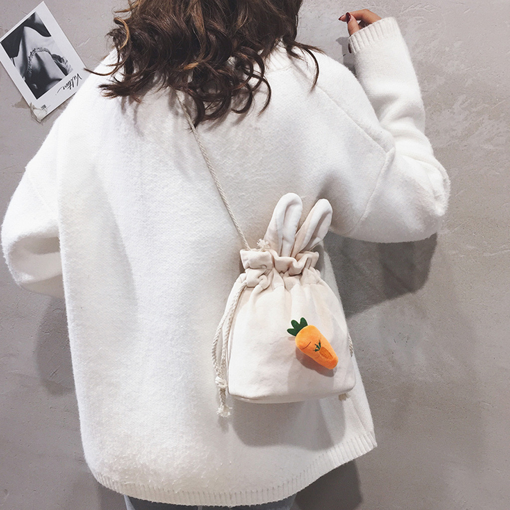 Bunny Cute Child Rabbit With Flowers Large Soft Leather Portable Top Handle Hand Totes Bags Causal Handbags With Zipper Shoulder Shopping Purse Luggage Organizer For Lady Girls Womens Work