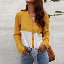 Hot Spring Autumn Women V Neck Loose Knitted T Shirt Ladies Casual Daily Long Sleeve Tops Three Color 2019