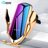 DCAE Automatic Clamping 10W Car Wireless Charger For iPhone XS XR X 8 11 Pro Samsung S10 S9 S8 Qi Fast Charging Car Phone Holder