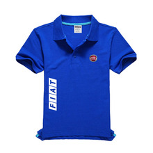 Лого Fiat Мужская рубашка поло высокого качества Мужская хлопковая рубашка с коротким рукавом Бренды майки